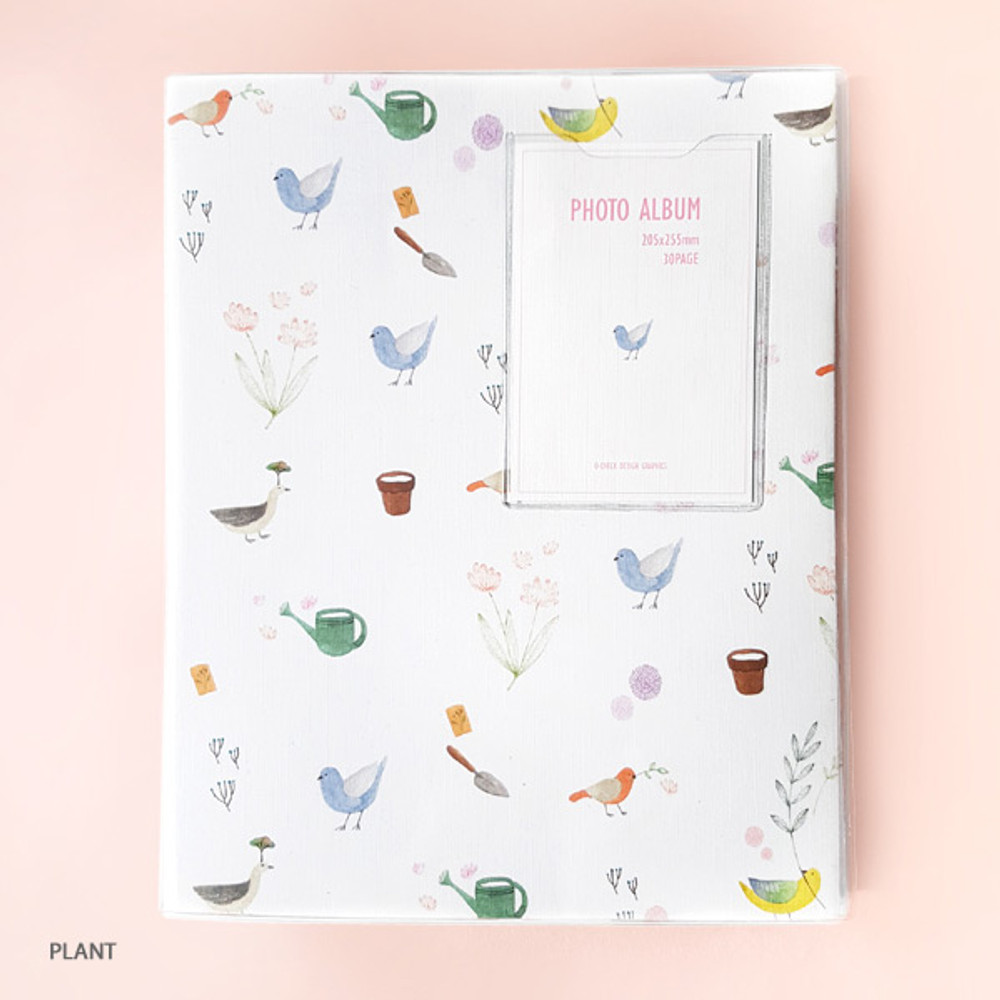 Plant - Pattern self adhesive photo album