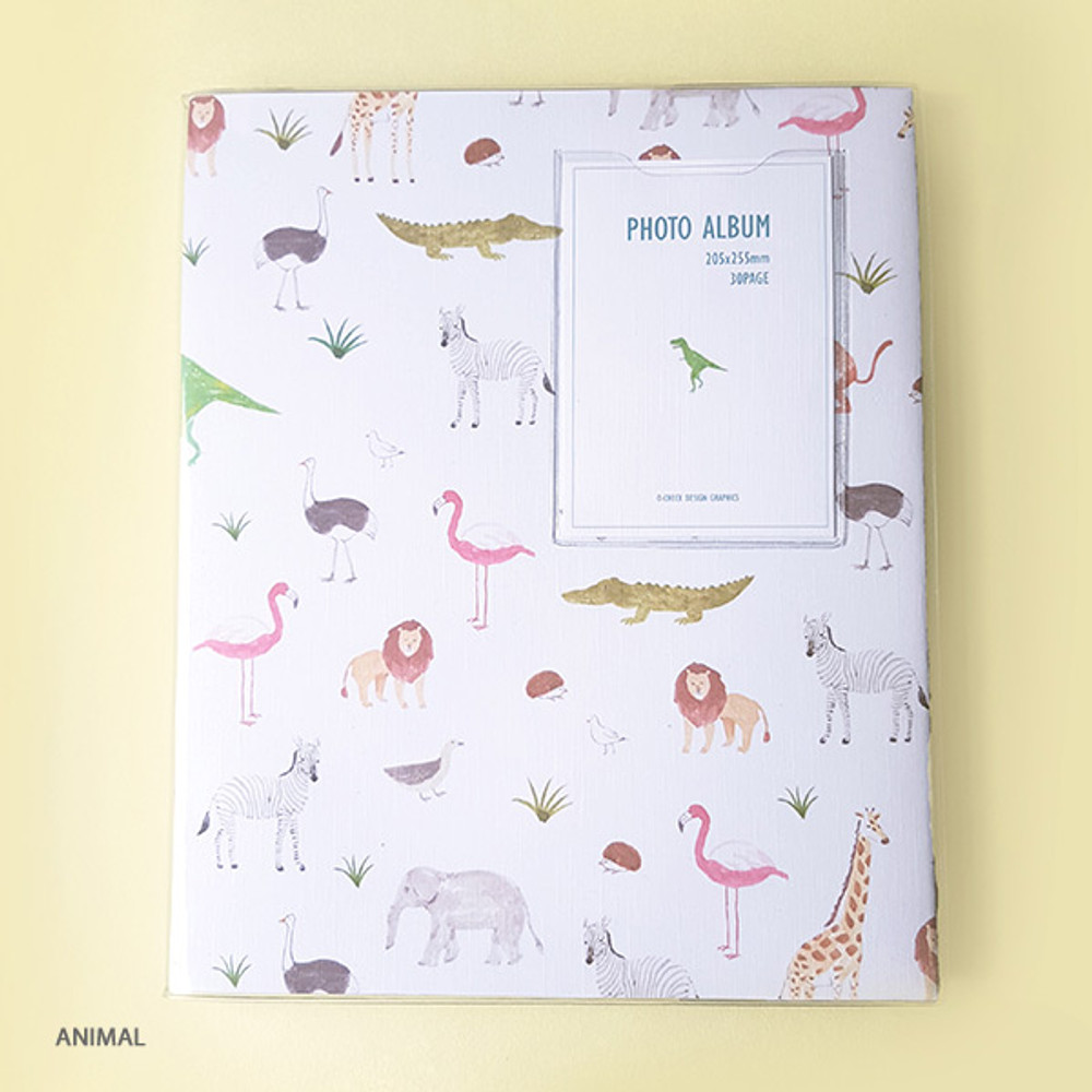 Animal - Pattern self adhesive photo album