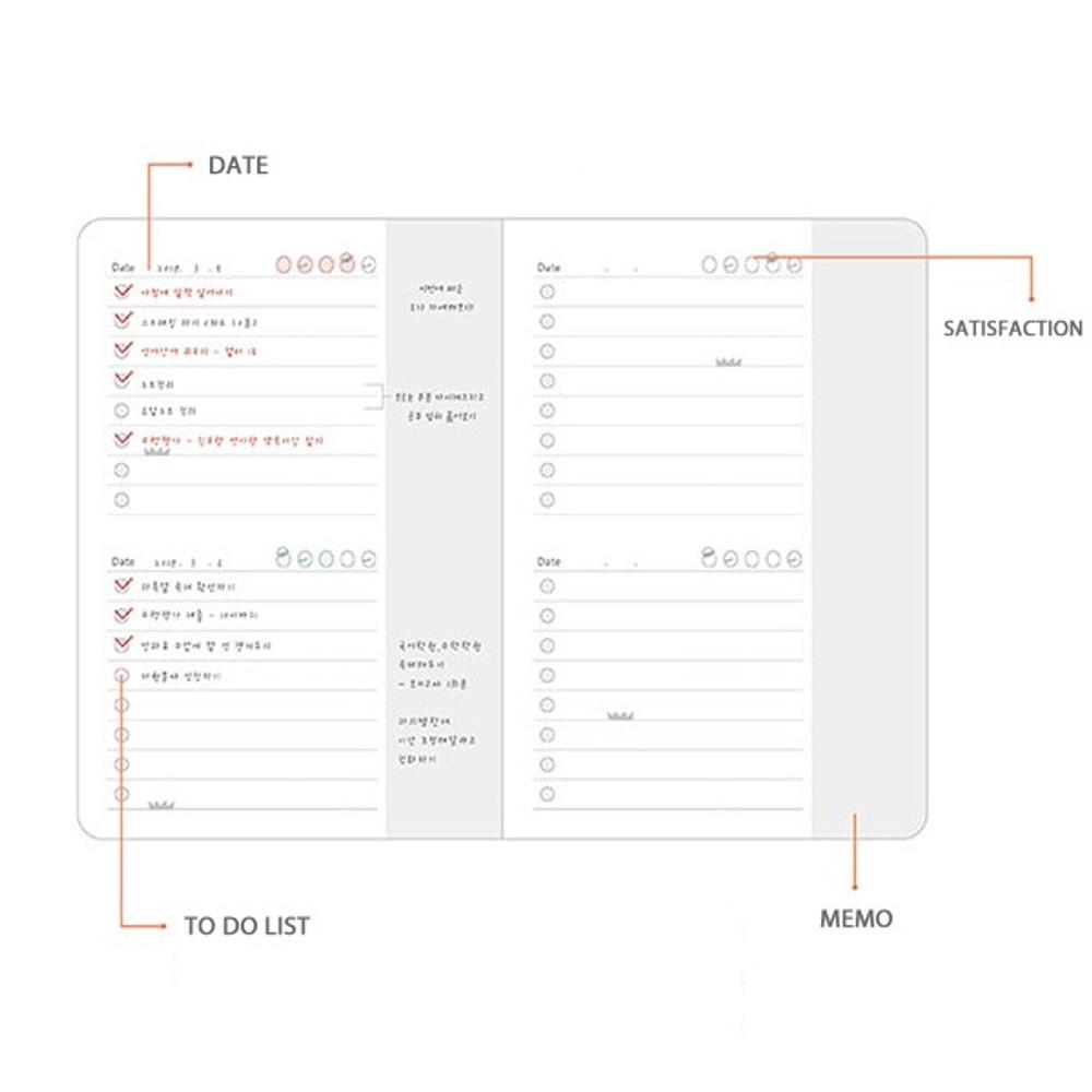 Daily plan - PLEPLE ChouChou 90 days undated daily journal diary