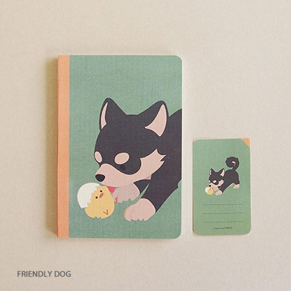 Friendly dog - PLEPLE ChouChou 90 days undated daily journal diary
