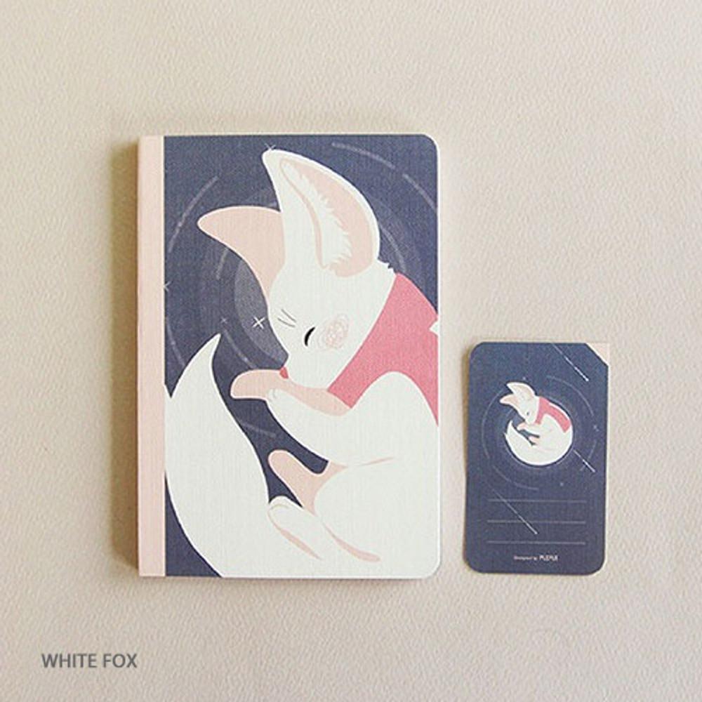 White fox - PLEPLE ChouChou 90 days undated daily journal diary
