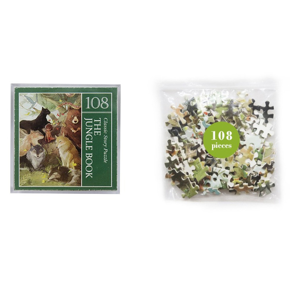 Package for Fairy tale 108 piece jigsaw puzzle - The Jungle Book