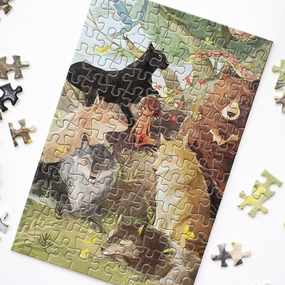 Fairy tale 108 piece jigsaw puzzle - The Jungle Book