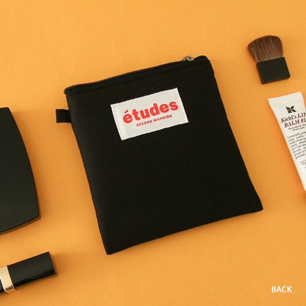 Black - Etudes slim cotton square pouch