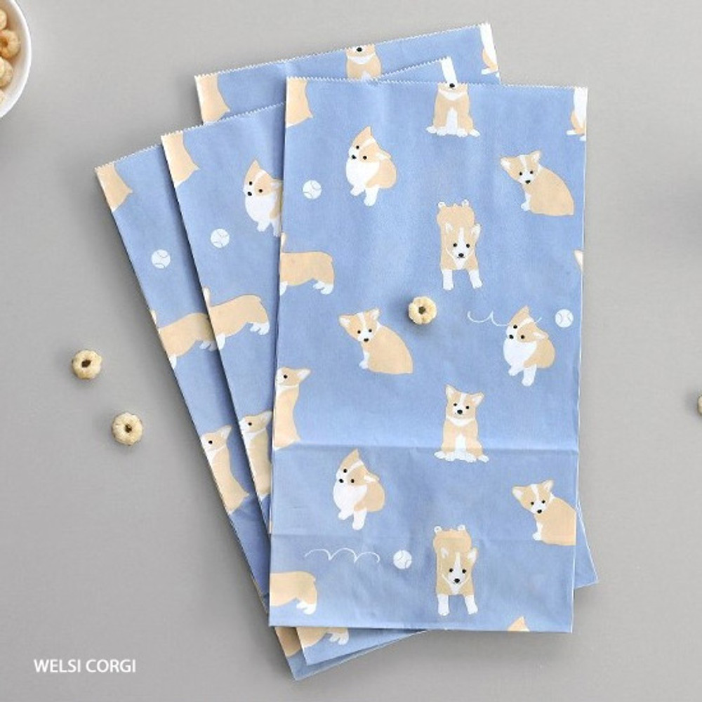 Welsh corgi - ICONIC From my heart cute gift paper bag set