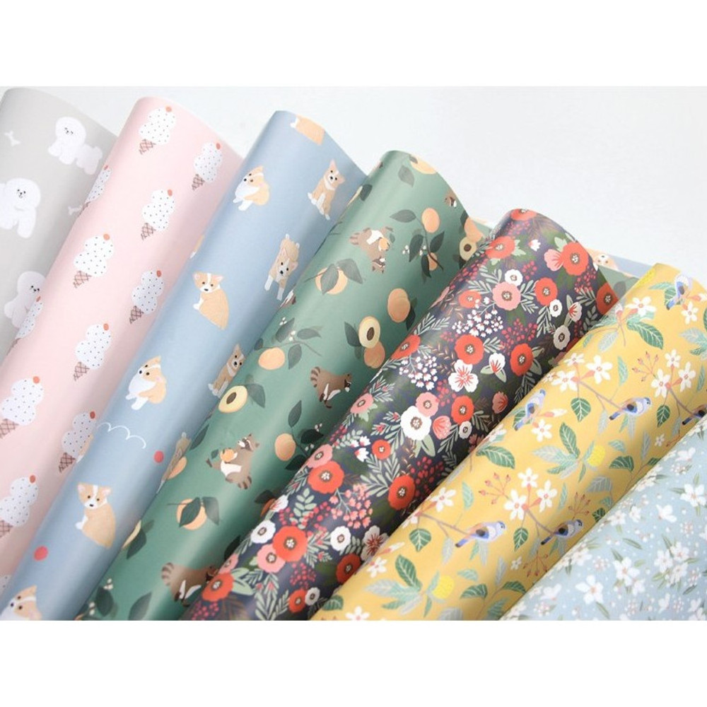 ICONIC From my heart cute gift wrapping paper set