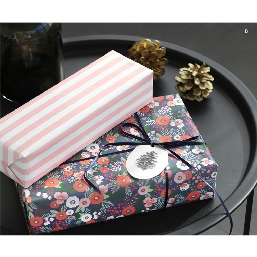 B -ICONIC From my heart cute gift wrapping paper set