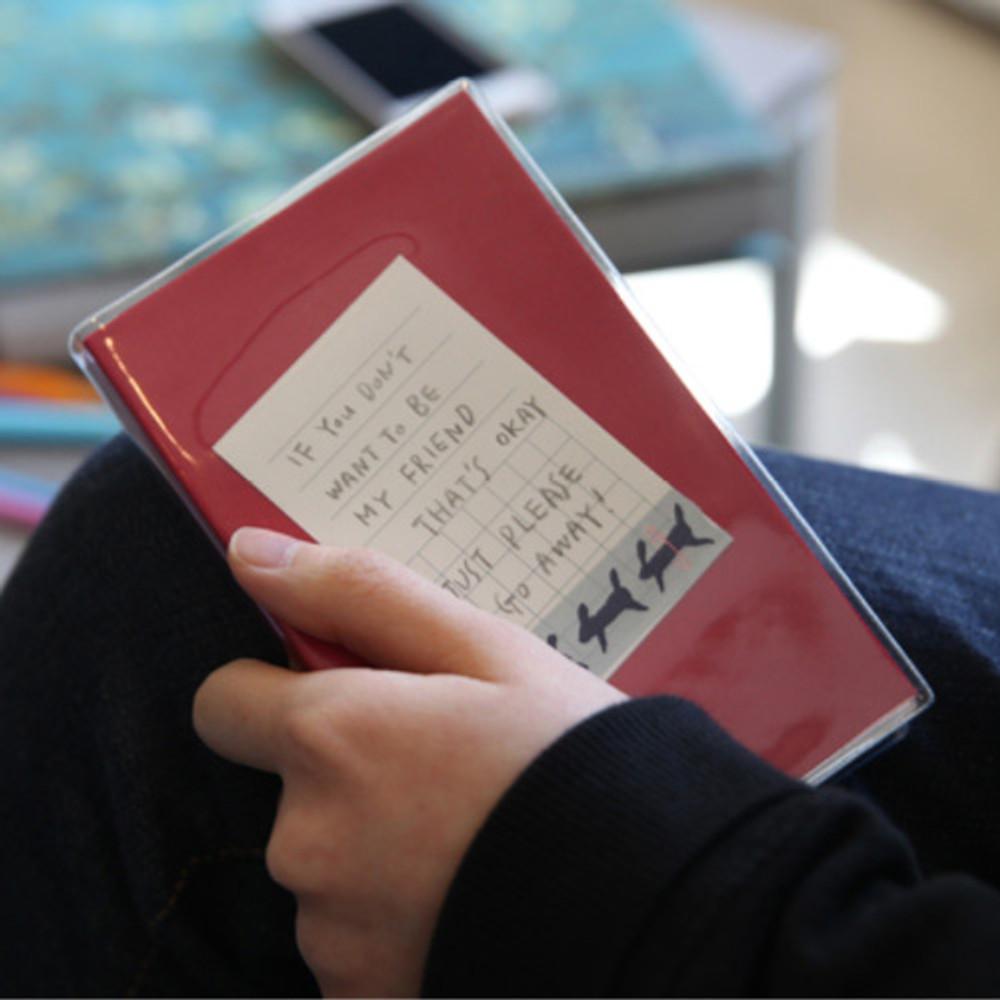 Pink - Free small gird notebook