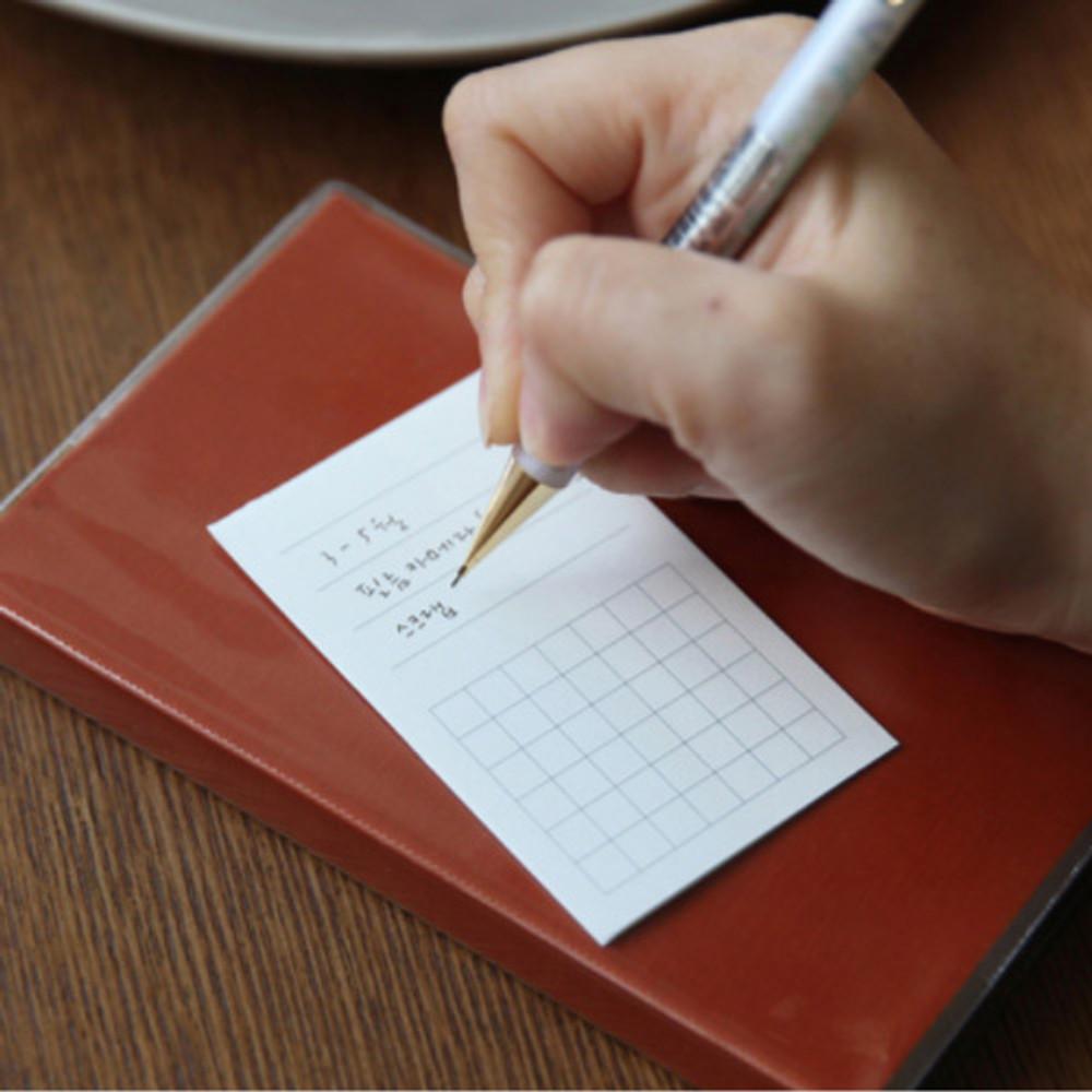 Orange - Free small gird notebook