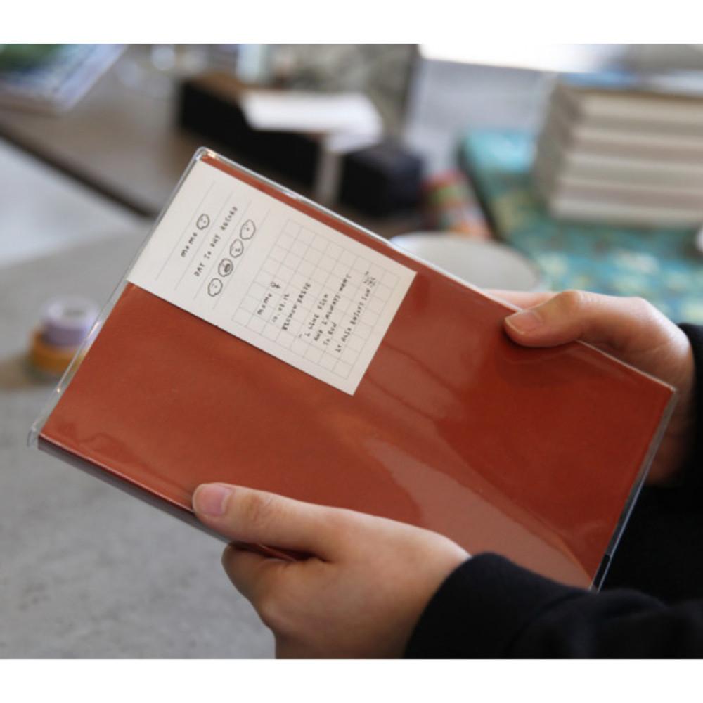 Orange - Free medium grid notebook