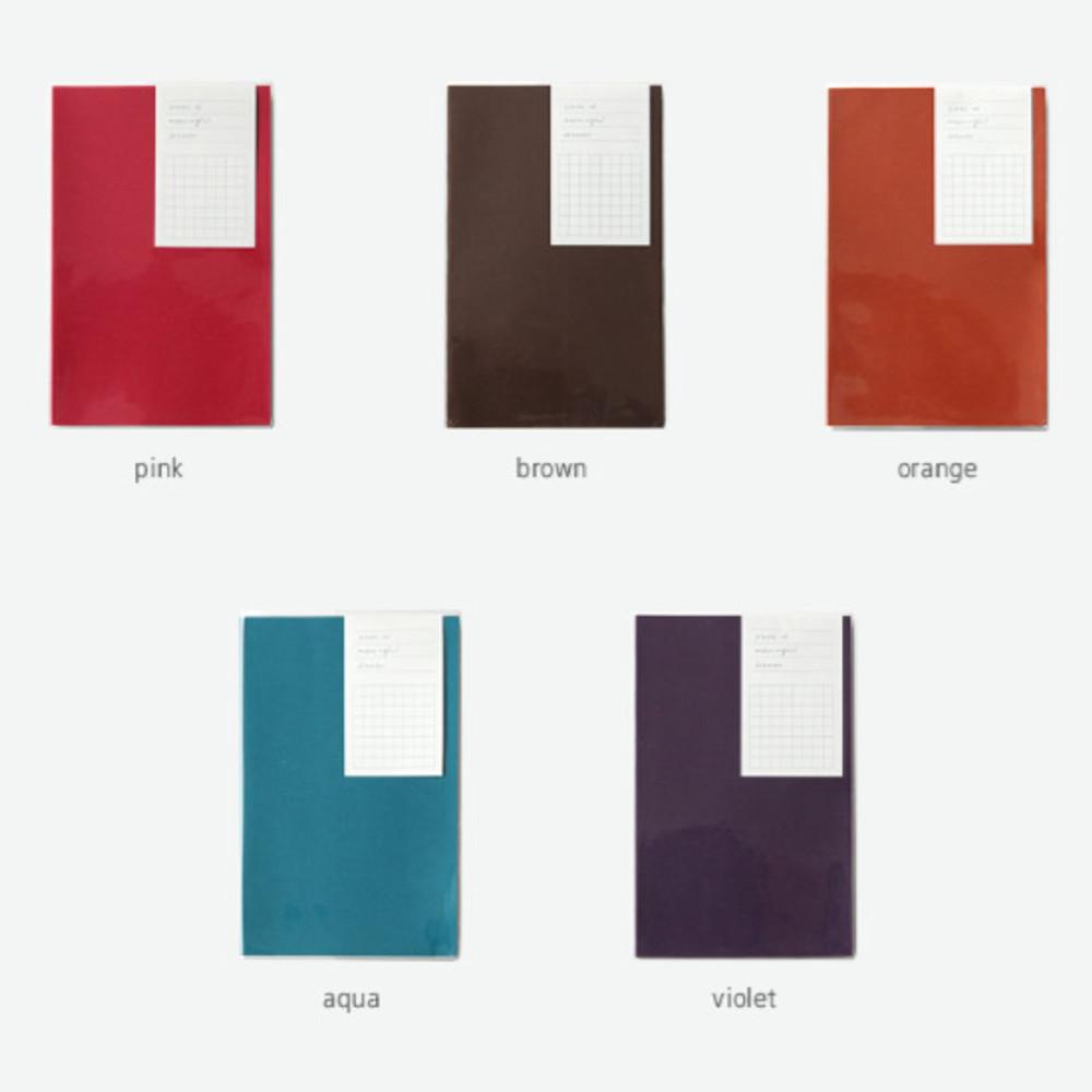 Colors of Free medium grid notebook