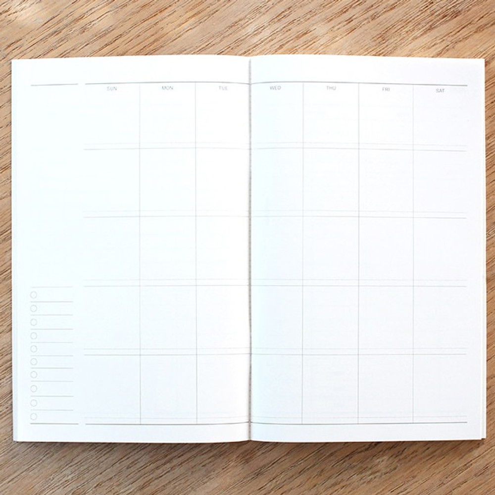 Monthly plan - Poche mois undated monthly planner