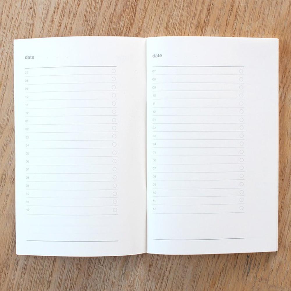 Daily schedule - Poche Jour undated daily planner scheduler