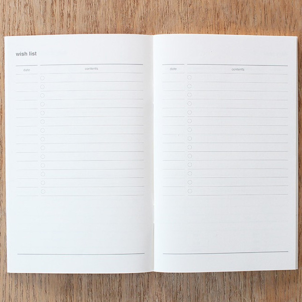 Wish list - Poche cash cash book planner