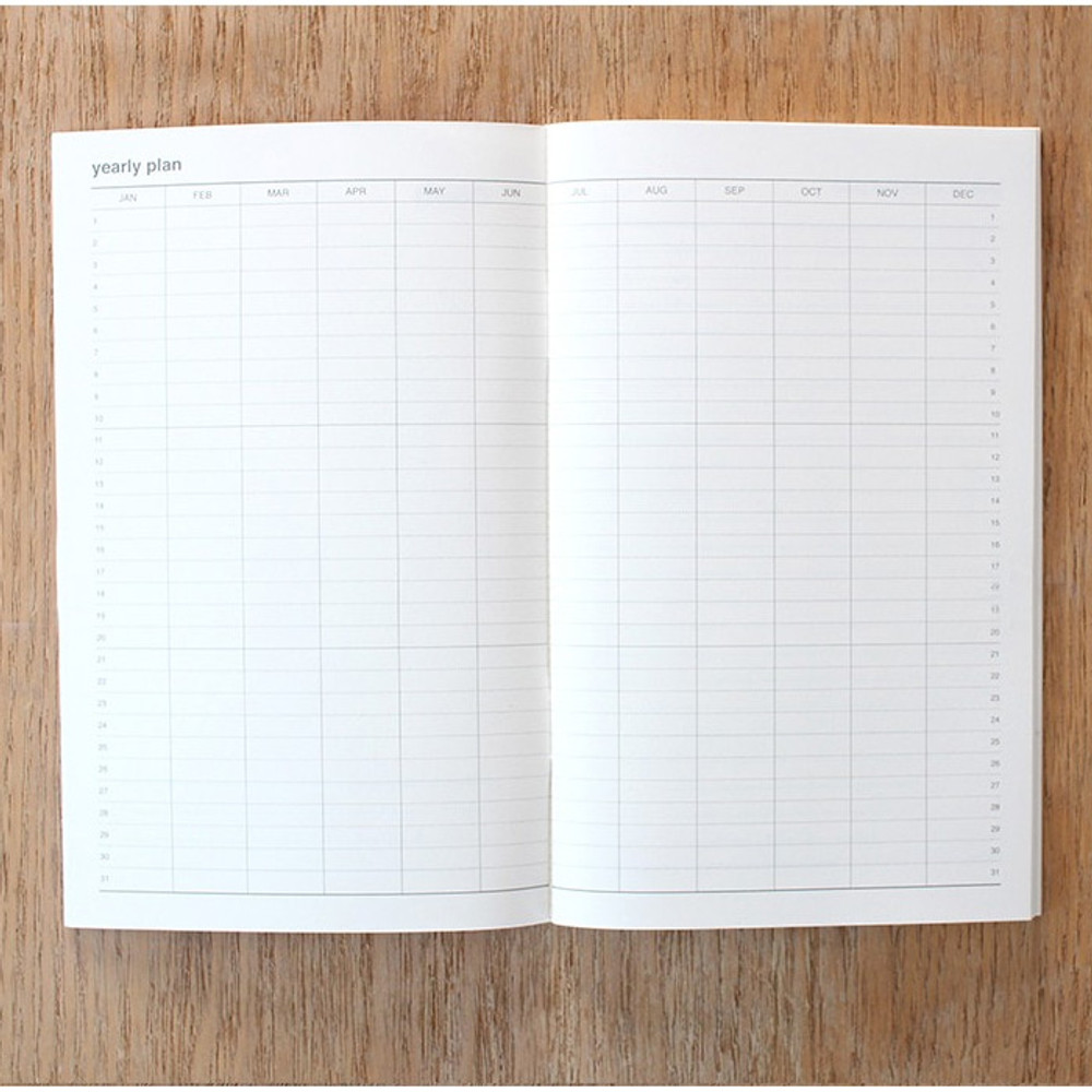 Yearly plan - Poche cash cash book planner