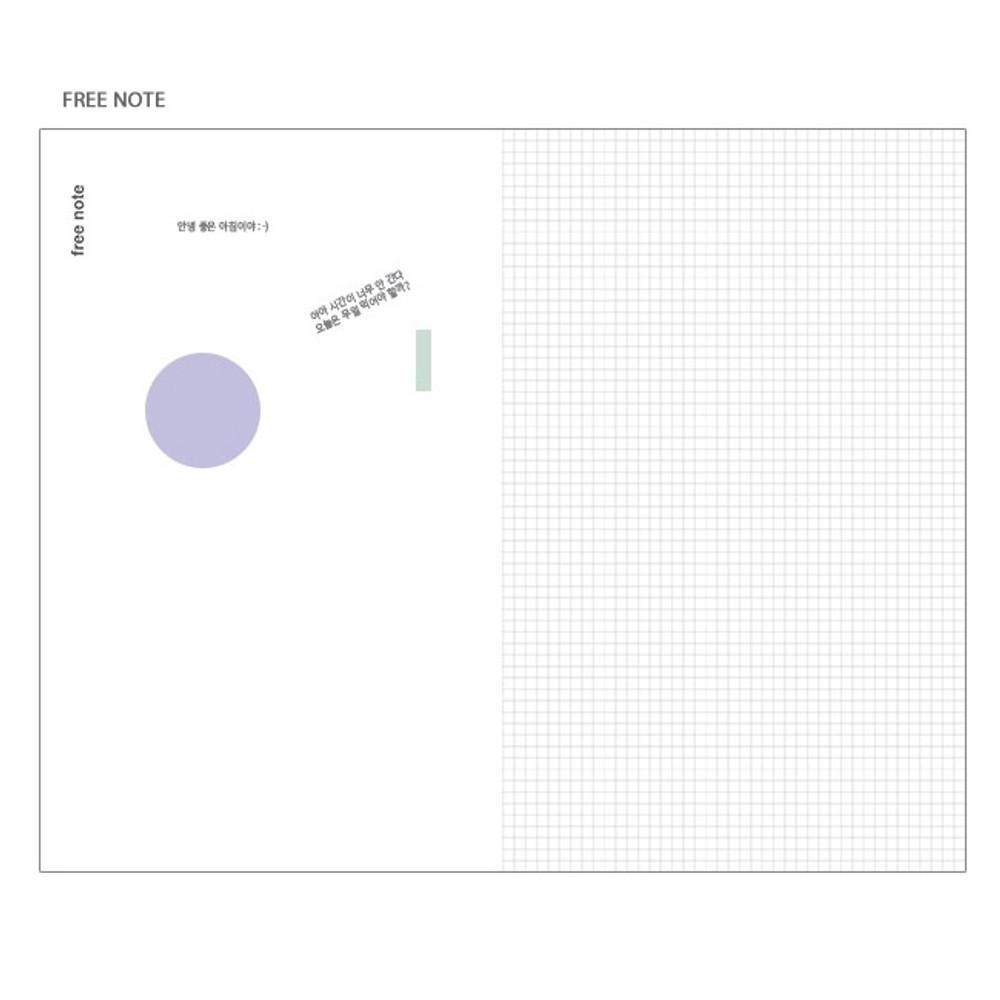Free note - Poche voyage travel planner notebook