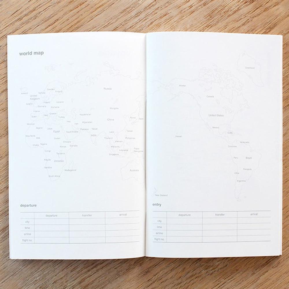 World map - Poche voyage travel planner notebook