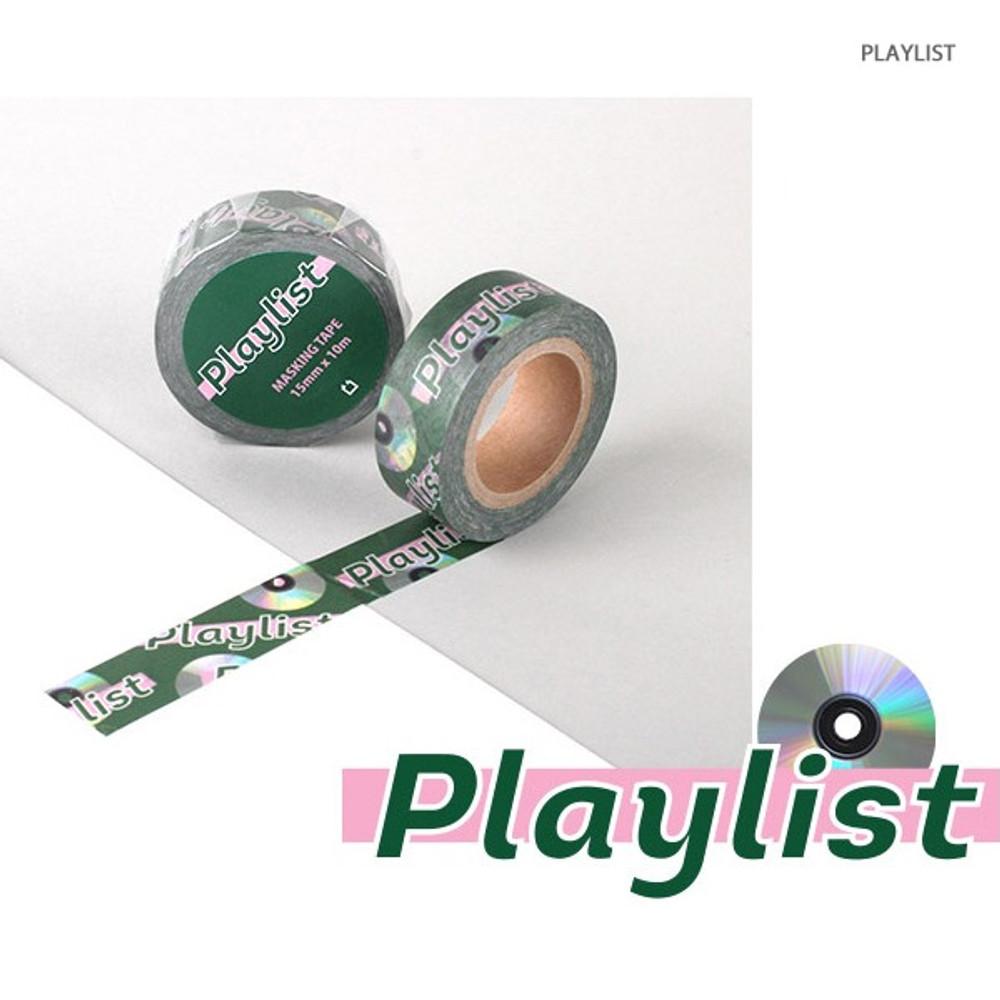 Playlist - Vintage retro deco single masking tape