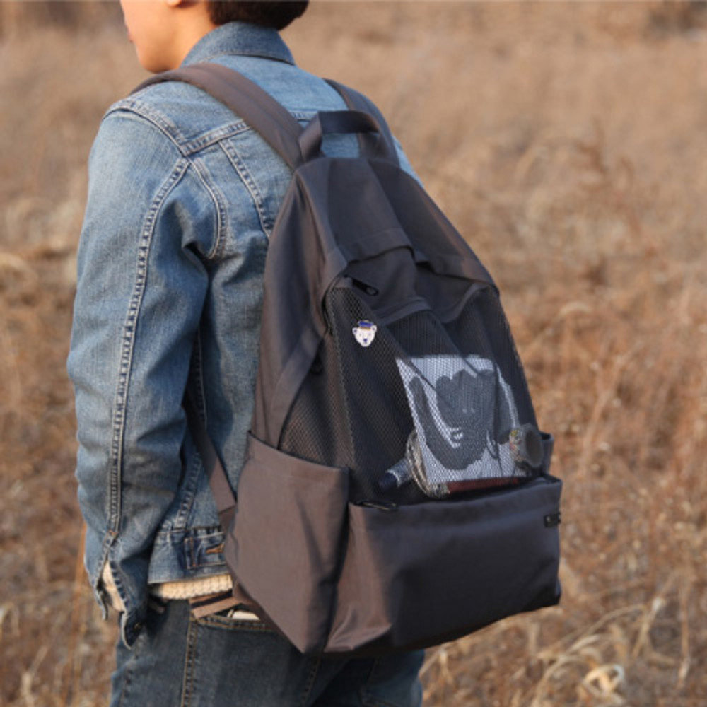 Charcoal gray - Travelus travel backpack for anything