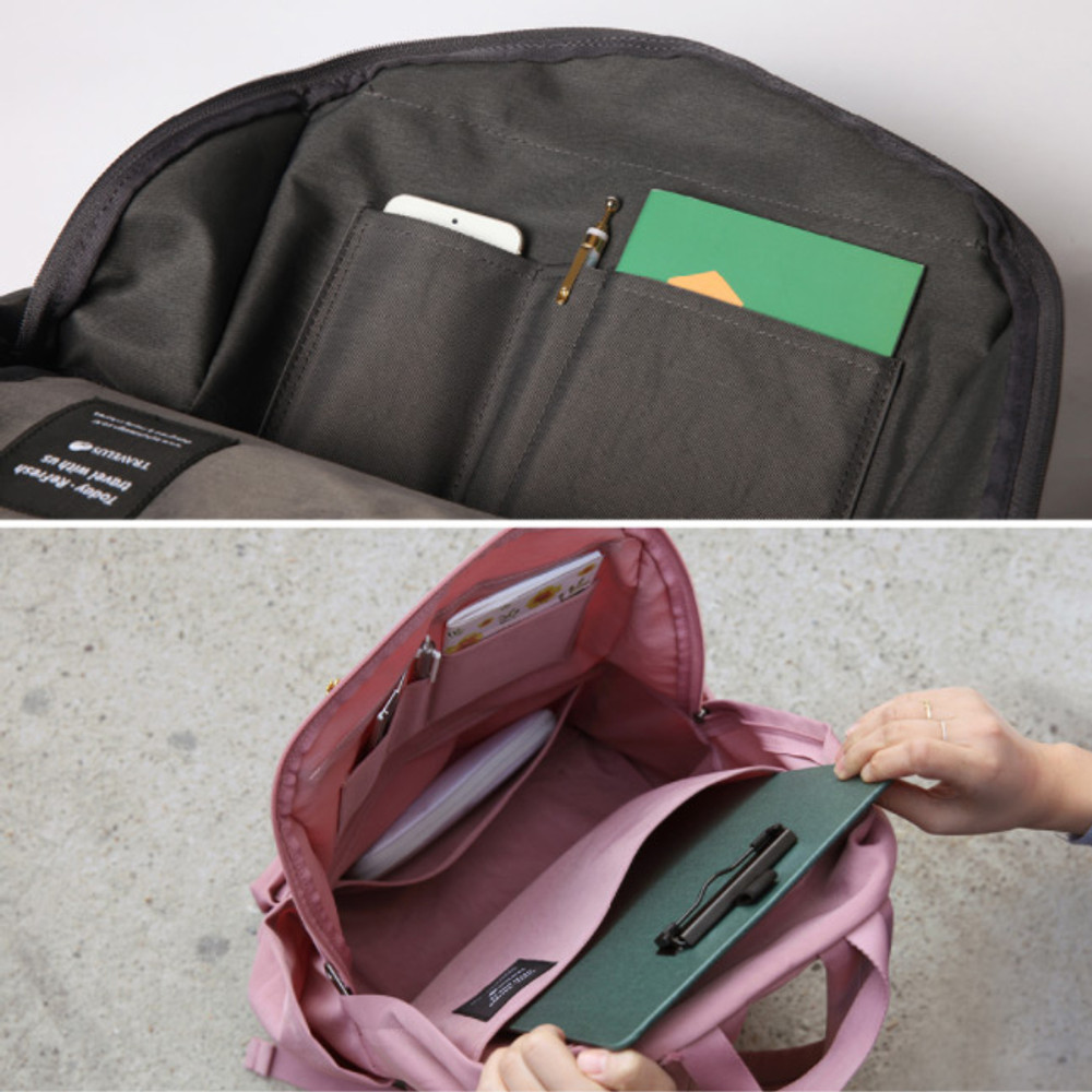 Detail of Travelus travel backpack for anything