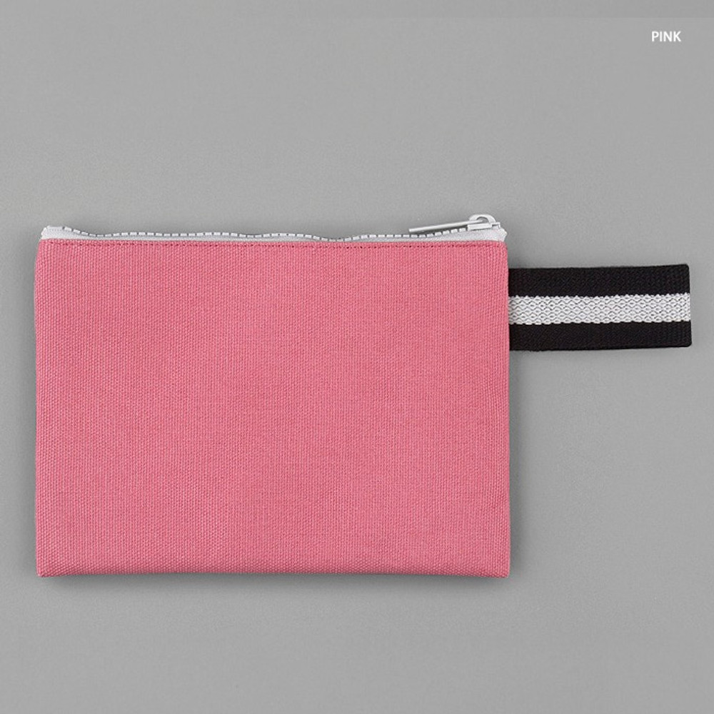 Pink - BNTP Hey you zipper pouch with strap