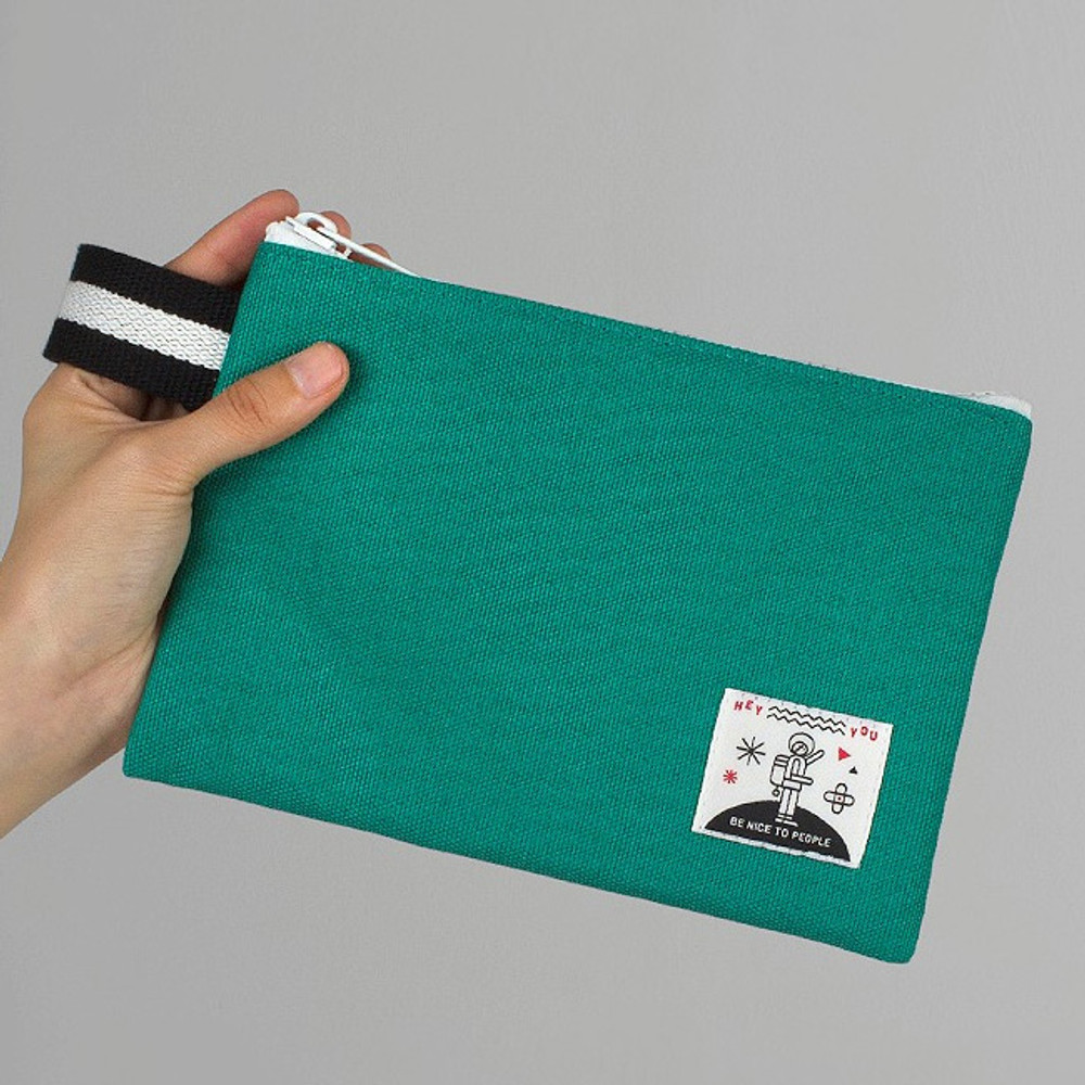 BNTP Hey you zipper pouch with strap