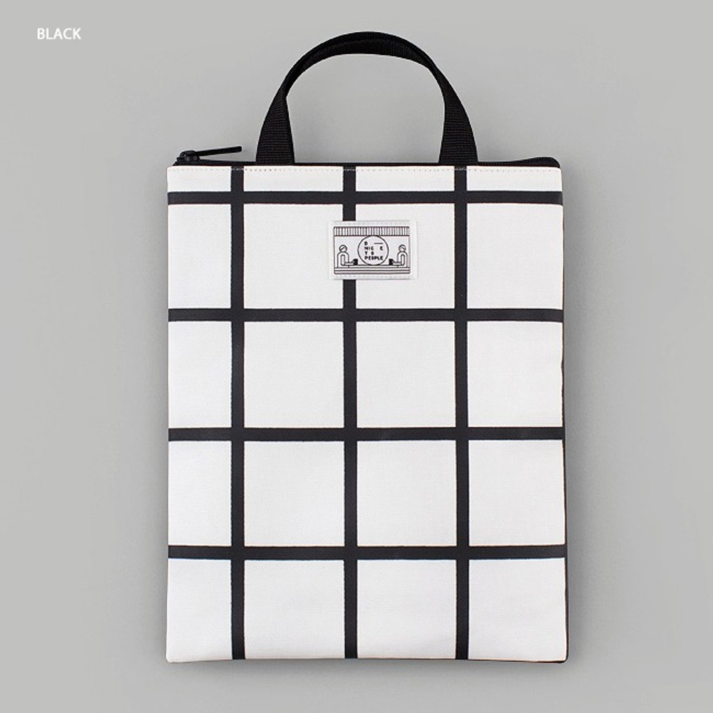 Black - BNTP Coated cotton medium document tote bag