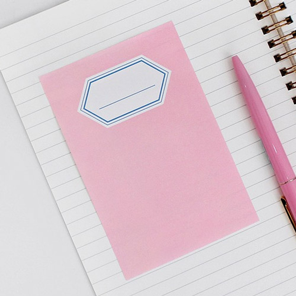 Pink - BNTP Title sticky it memo note pad