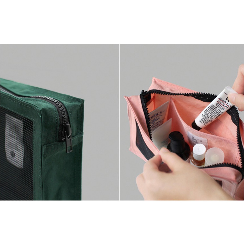 BNTP Washer block square large zipper pouch