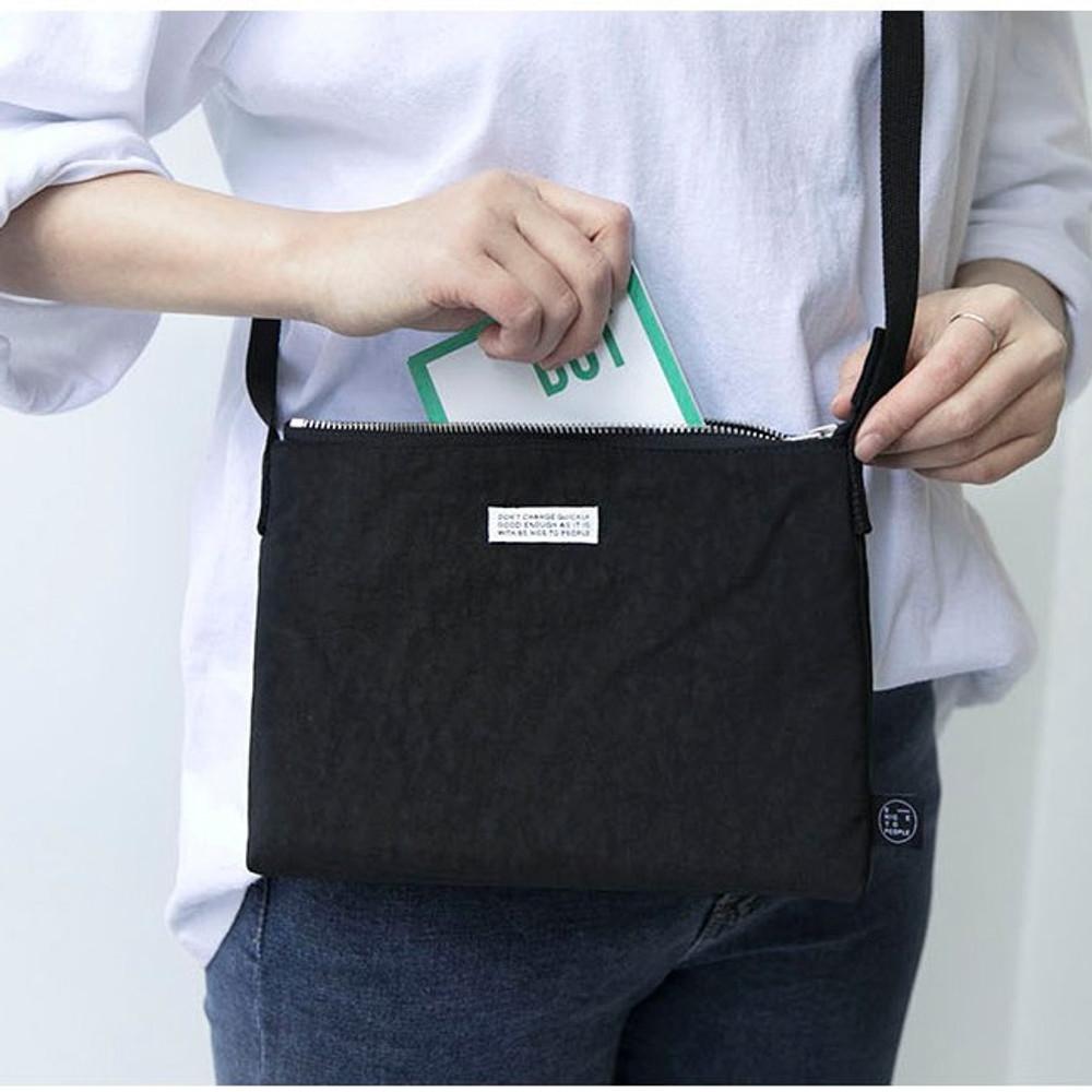 Black - BNTP Washer daily small crossbody bag