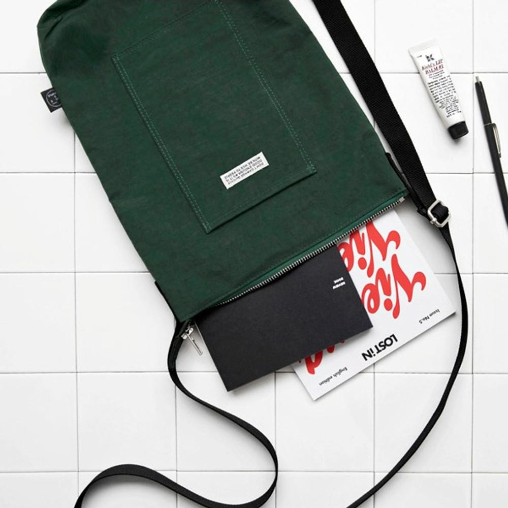 Green - BNTP Washer daily medium crossbody bag