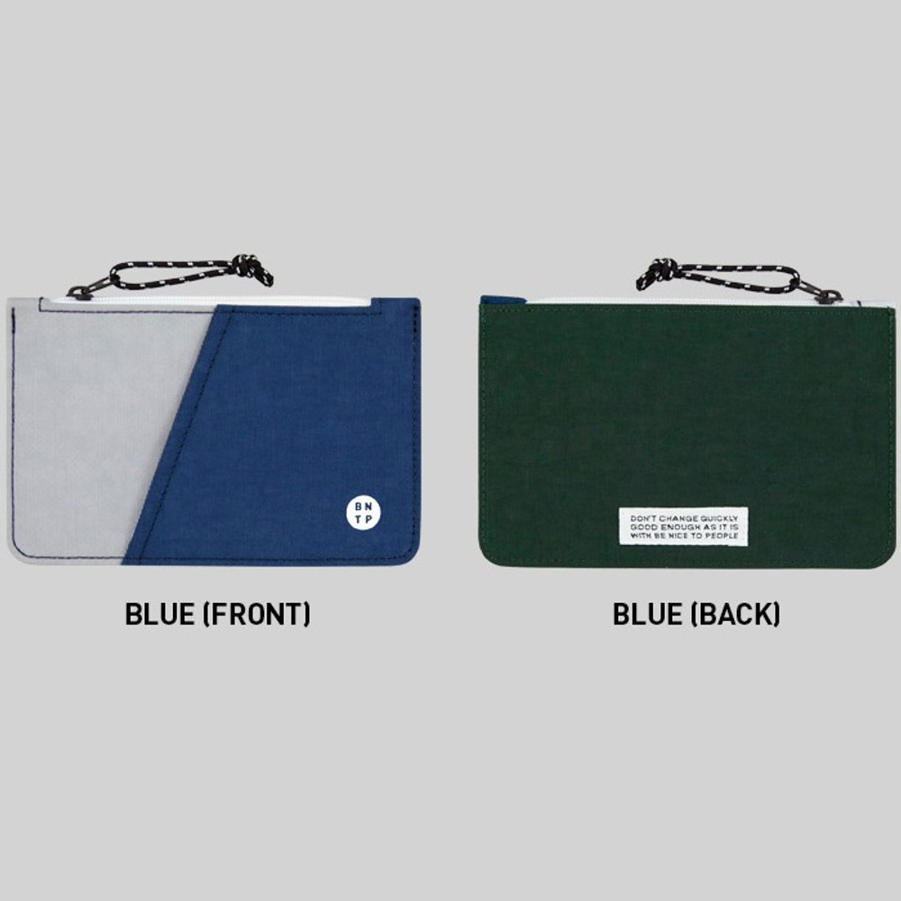 Blue - BNTP Washer flat small multi pouch