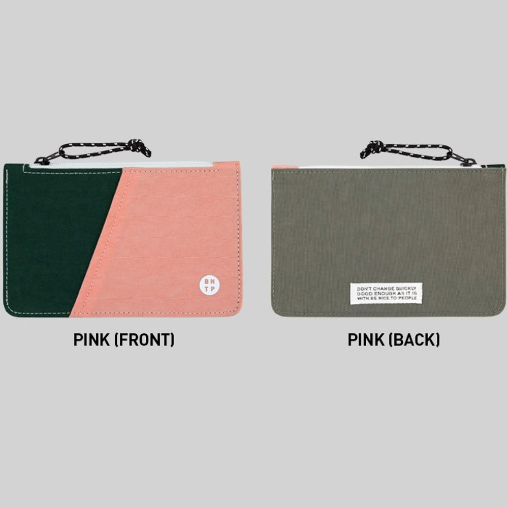 Pink - BNTP Washer flat small multi pouch