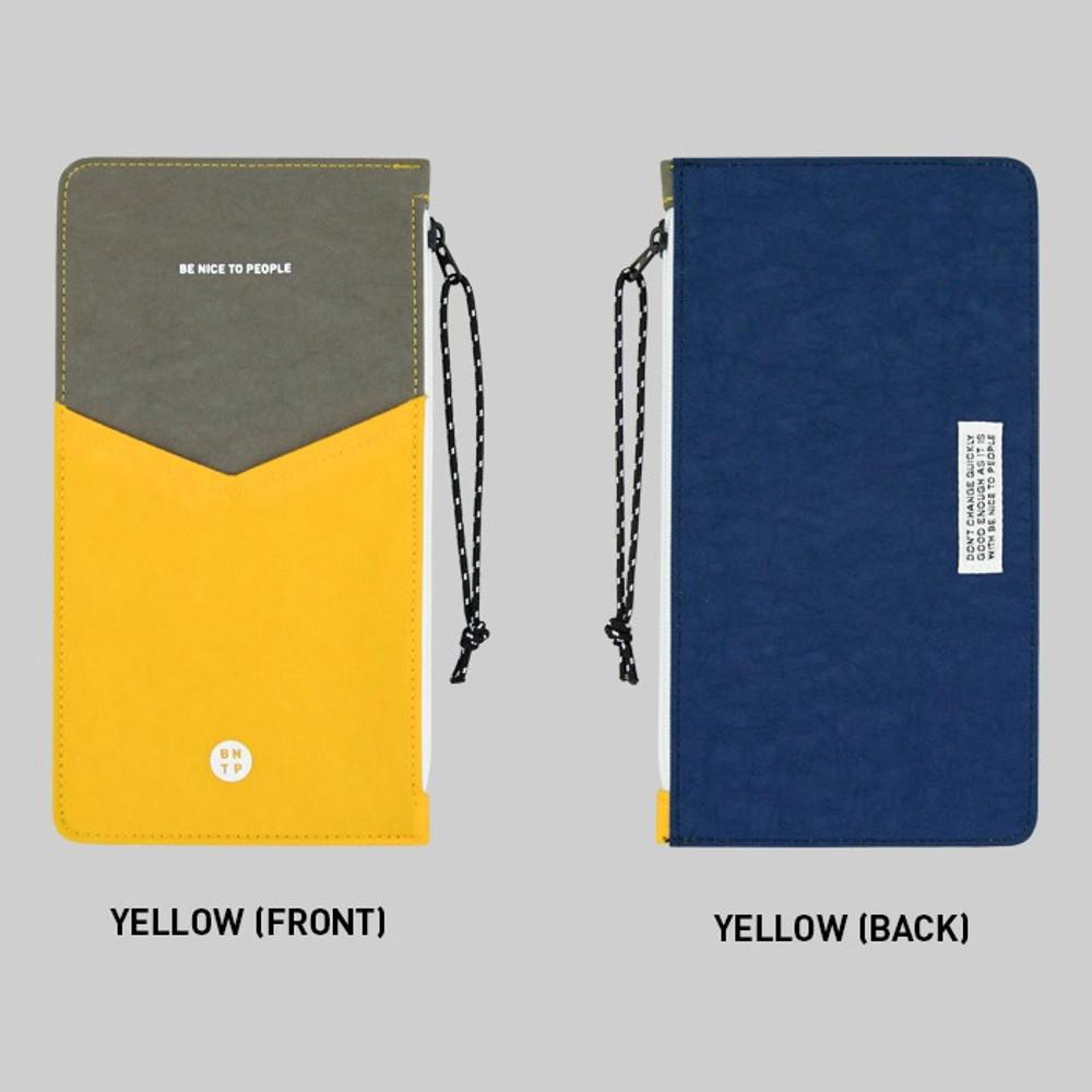 Yellow - BNTP Washer flat long multi pouch