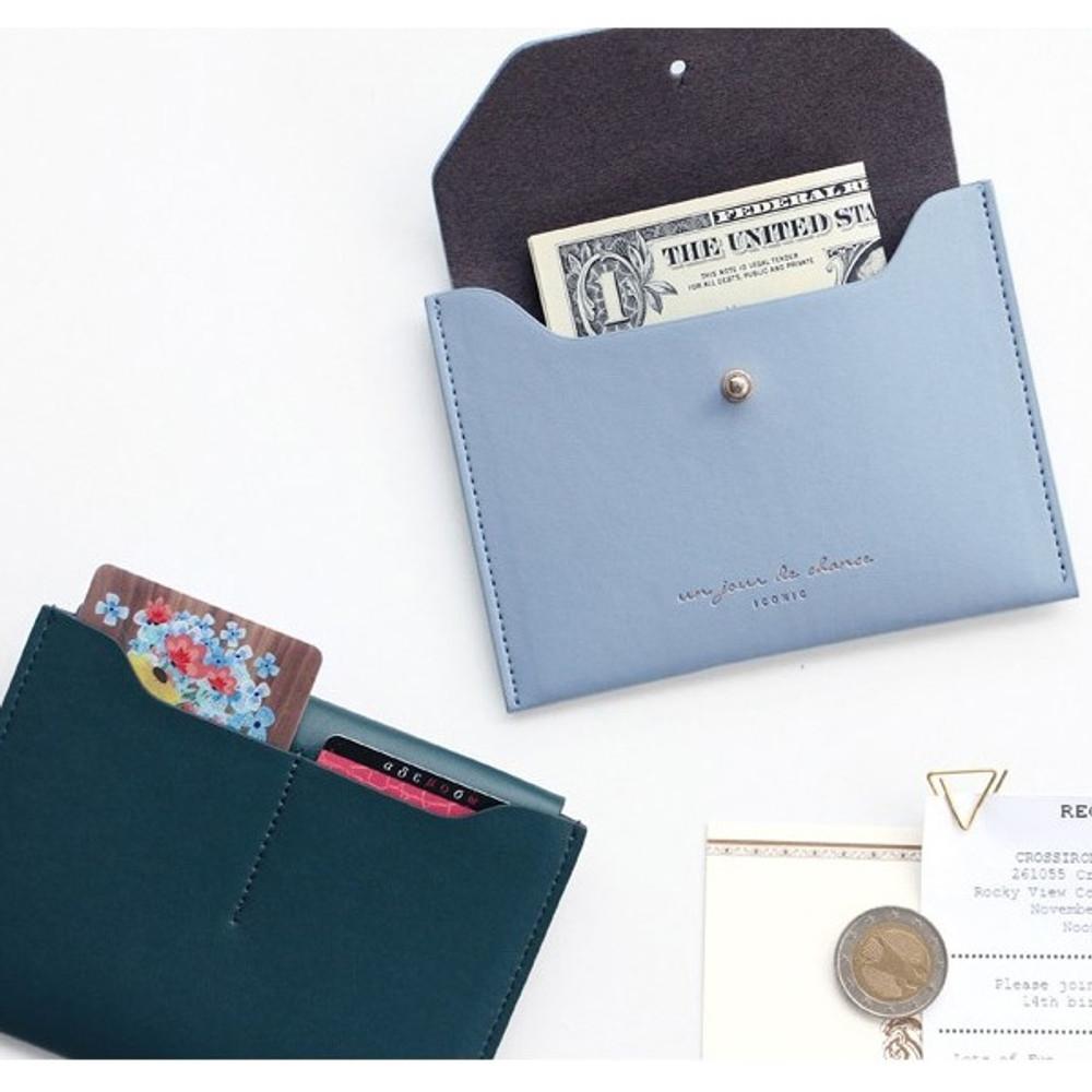 Un jour de chance pocket flat wallet