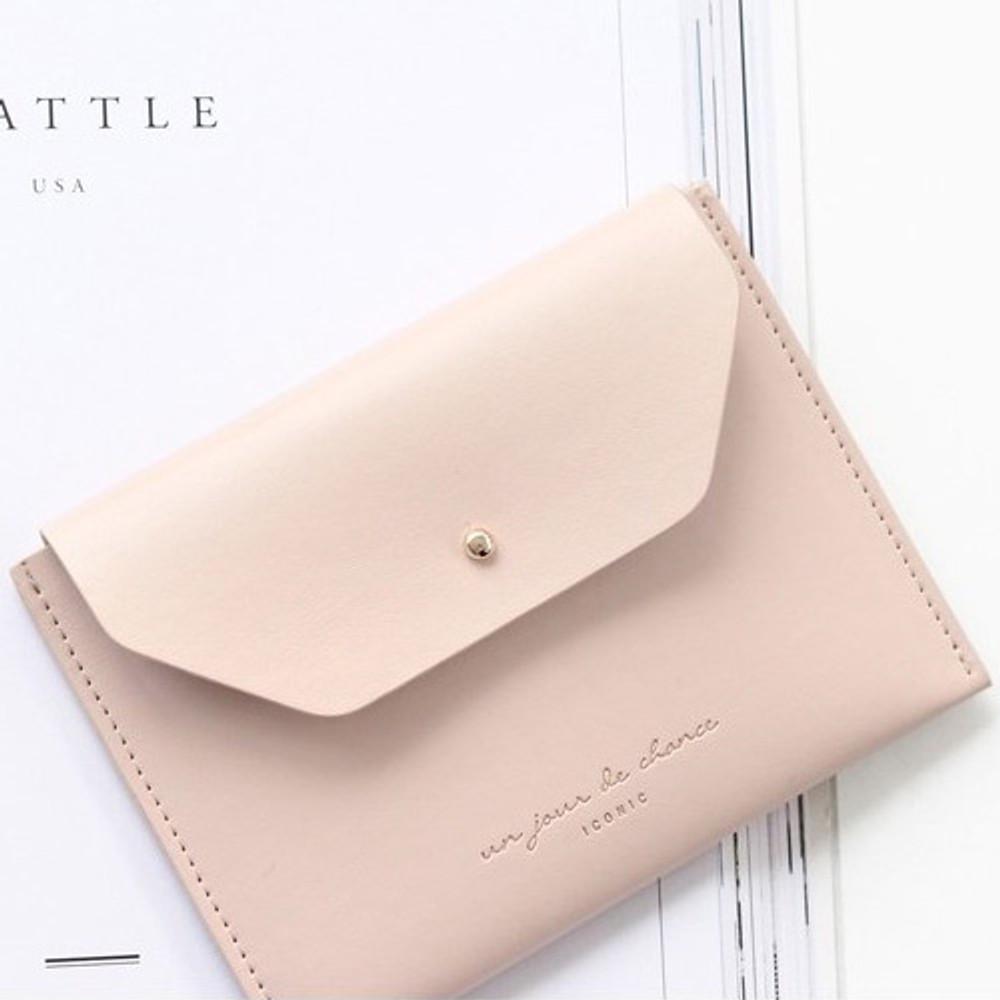 Indi pink - Un jour de chance pocket flat wallet