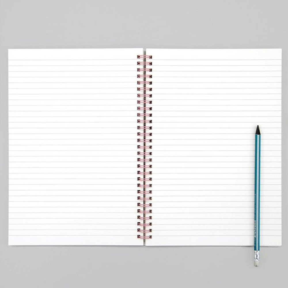 lined pages - BNTP Nice two color spiral lined notebook