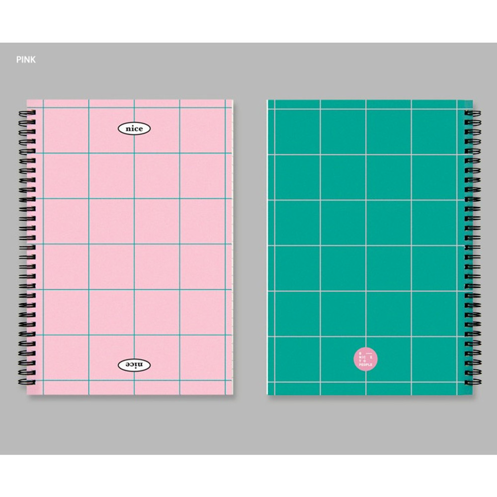 Pink - BNTP Nice two color spiral lined notebook
