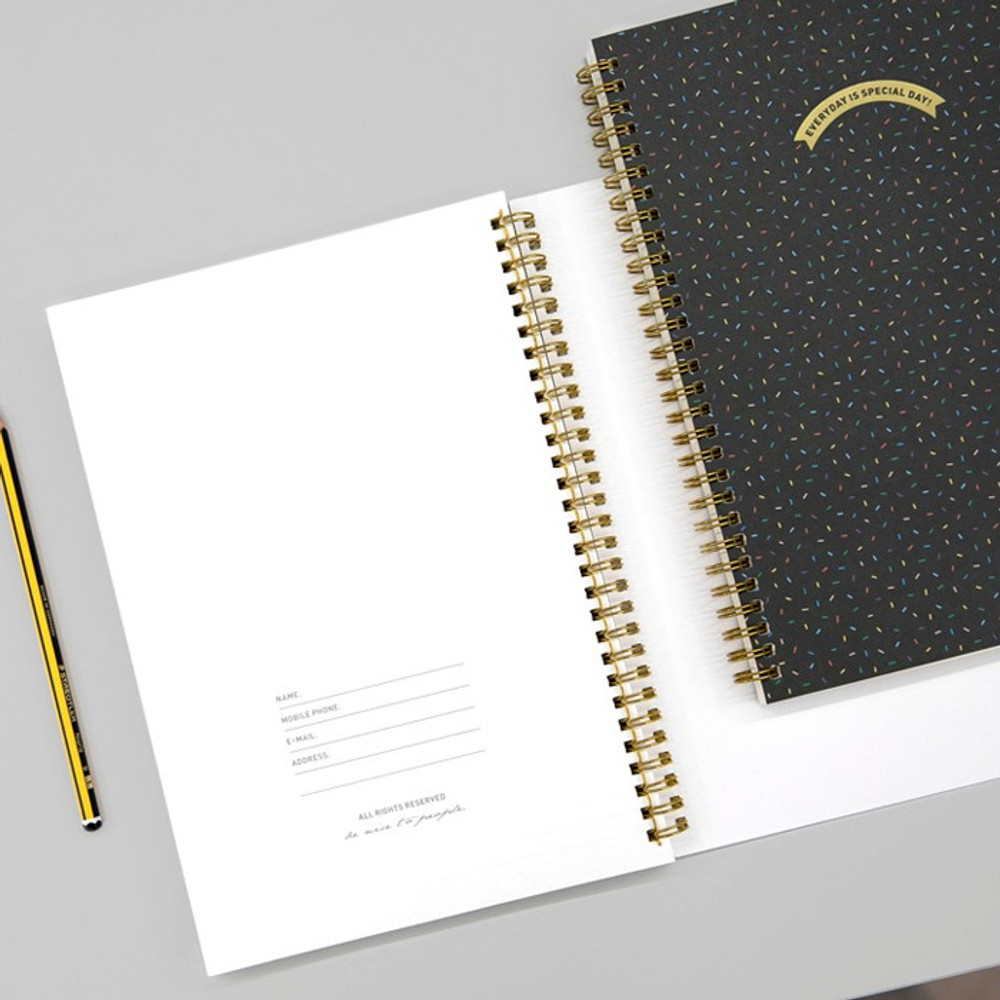 Personal data - BNTP Everyday is special day spiral lined notebook