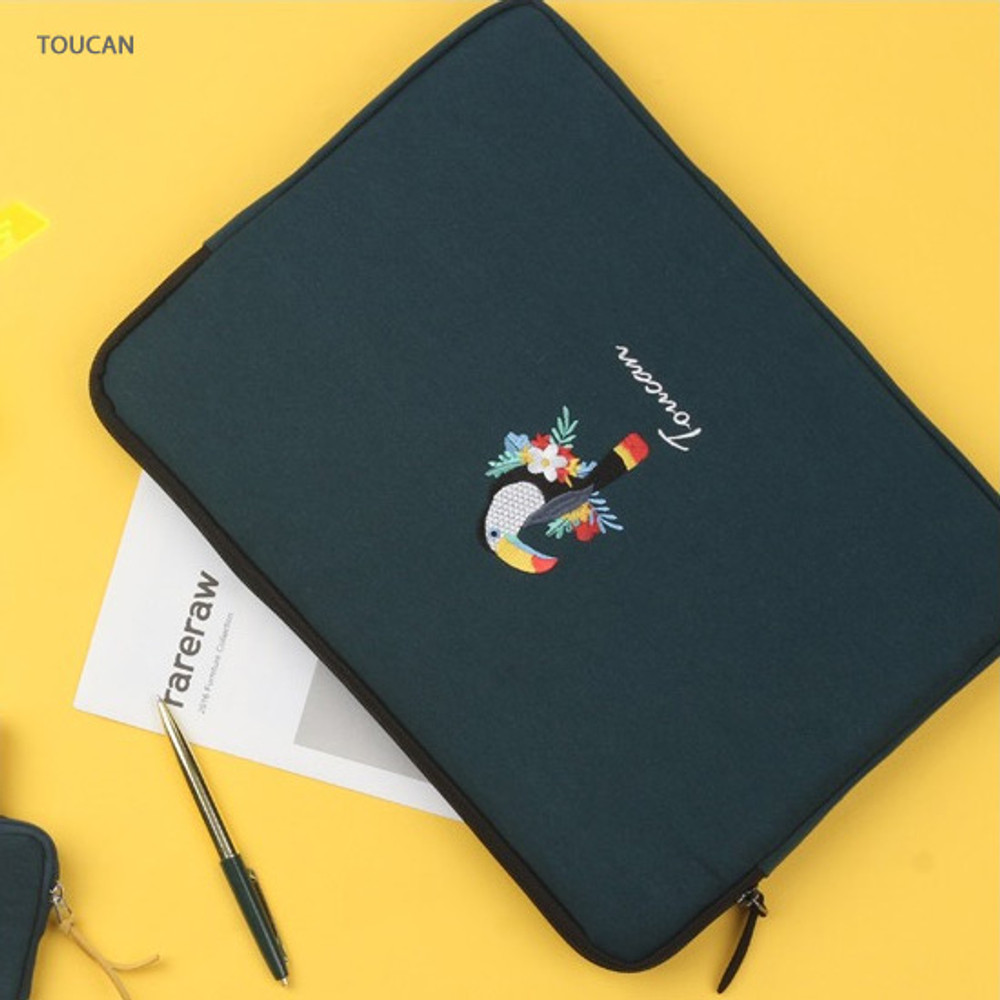Tuscan - Tailorbird embroidery 15 inches laptop case