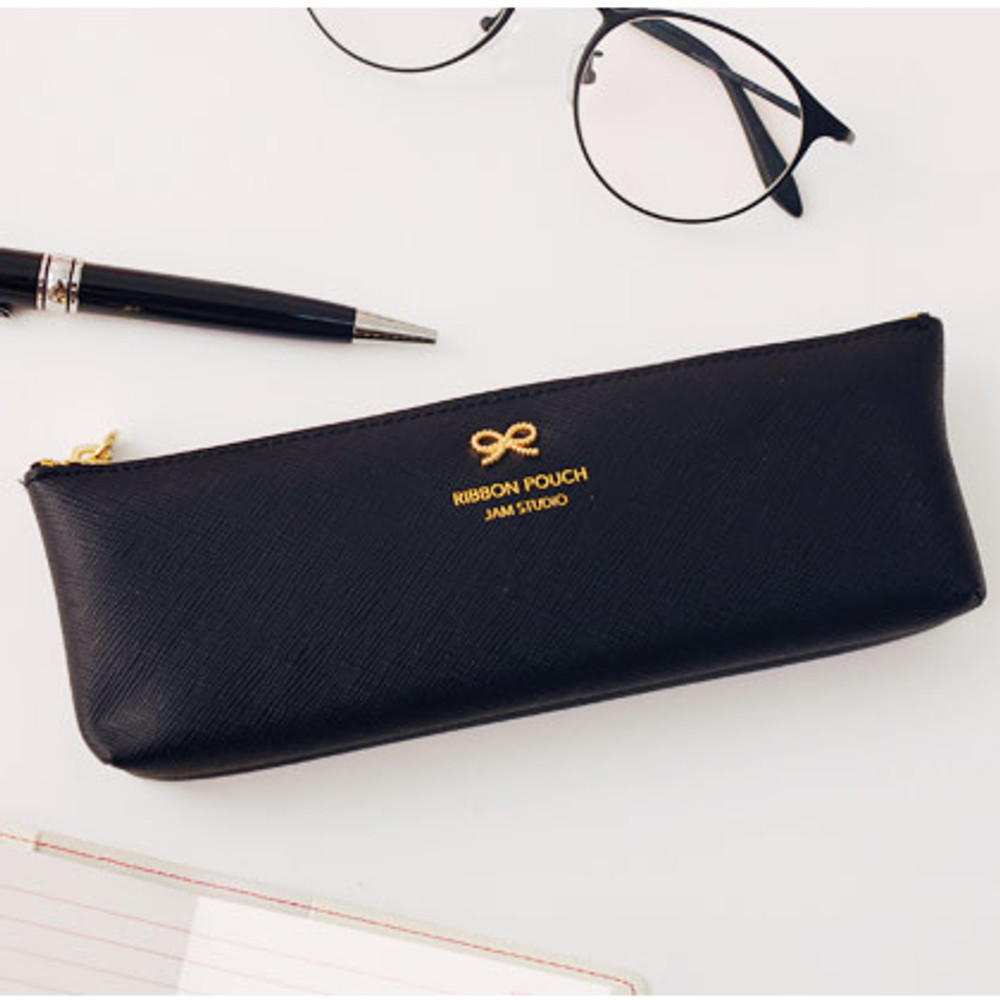 Lovely Ribbon pencil case pouch - 5 colors