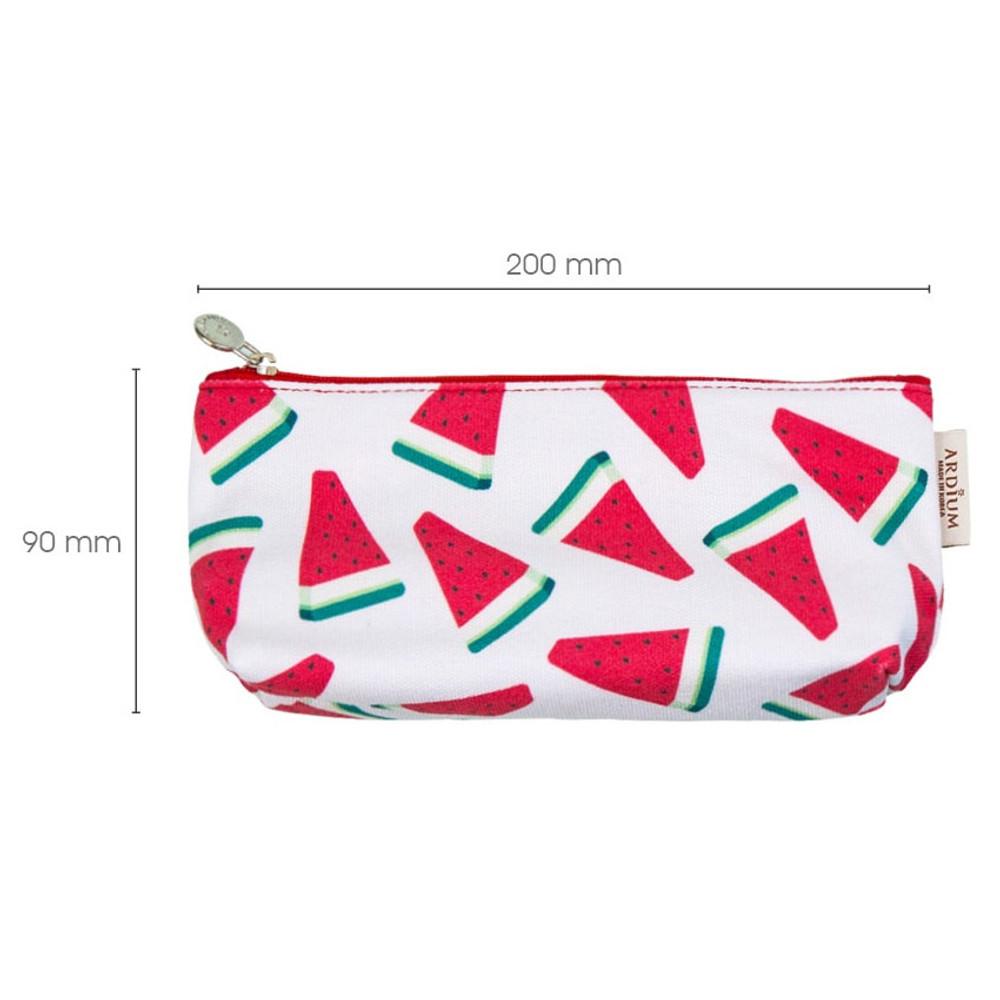 Size of Pattern canvas zipper pouch