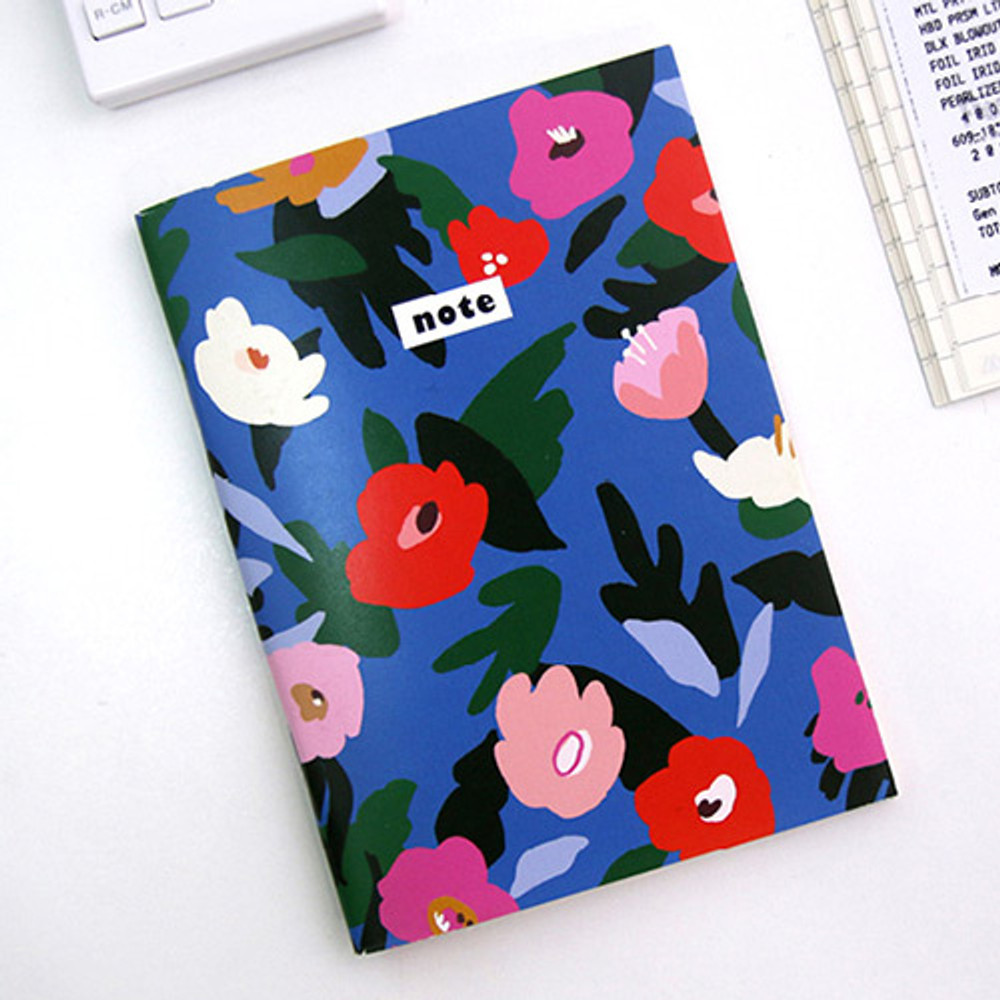 Blue - Pattern mini small lined notebook