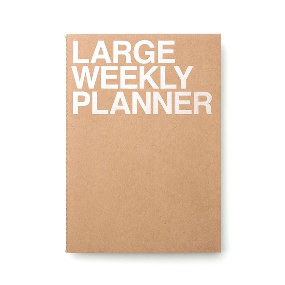 Kraft - Large 54 weeks undated weekly planner