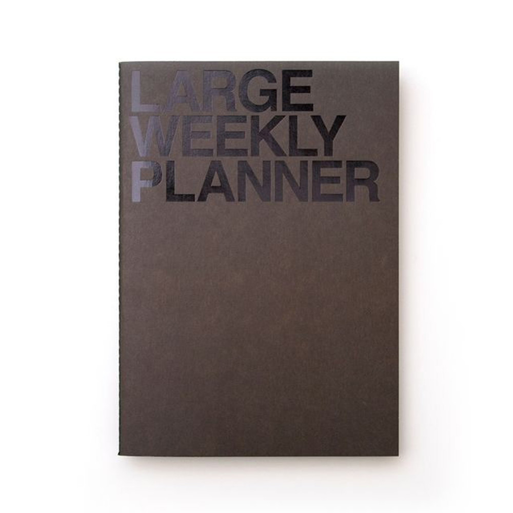 Khaki black - Large 54 weeks undated weekly planner
