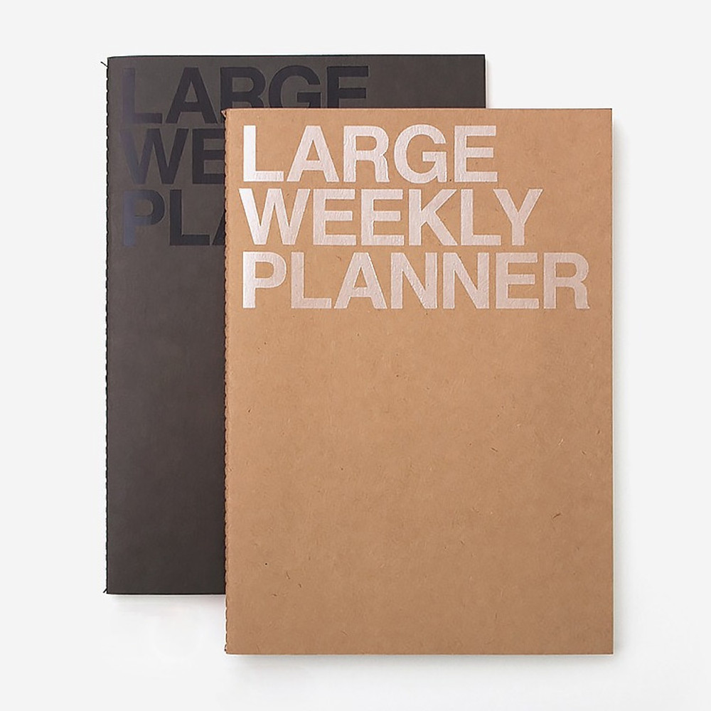 Large 54 weeks undated weekly planner