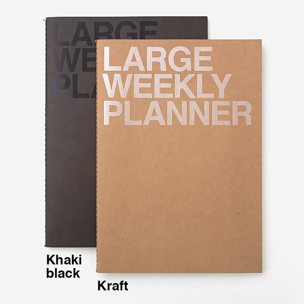 Colors of Large 54 weeks undated weekly planner