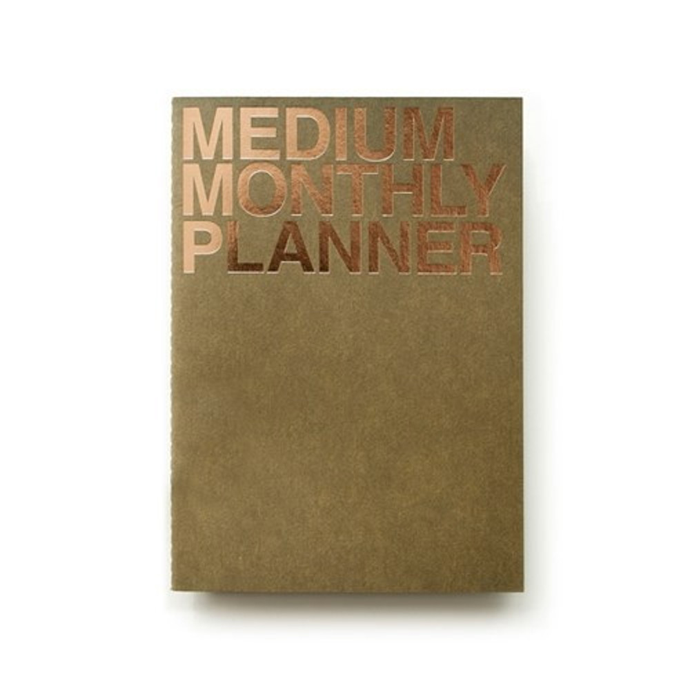 Khaki - Medium 16 months undated monthly planner