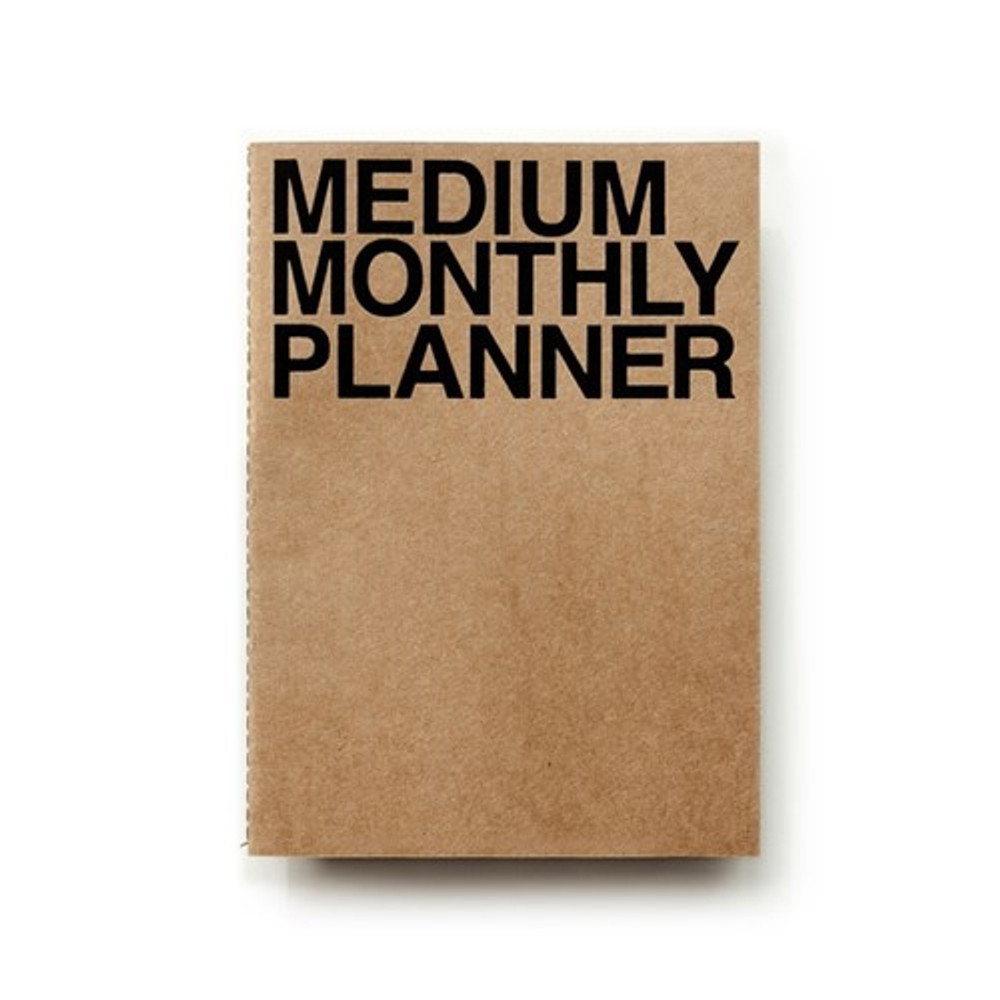 Kraft - Medium 16 months undated monthly planner