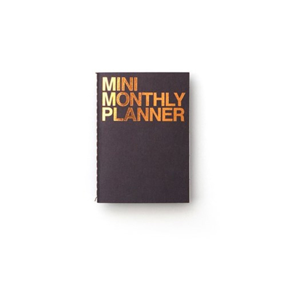Blue black - Mini 16 months undated monthly planner